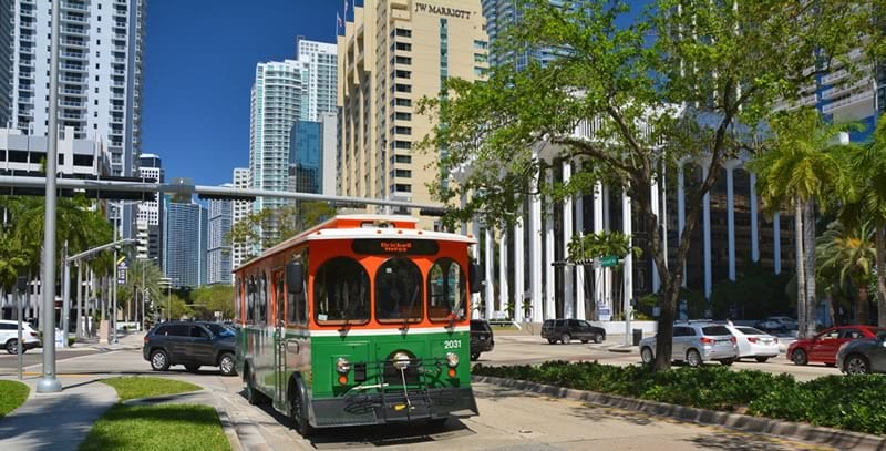 Green Trolley Miami Downtown